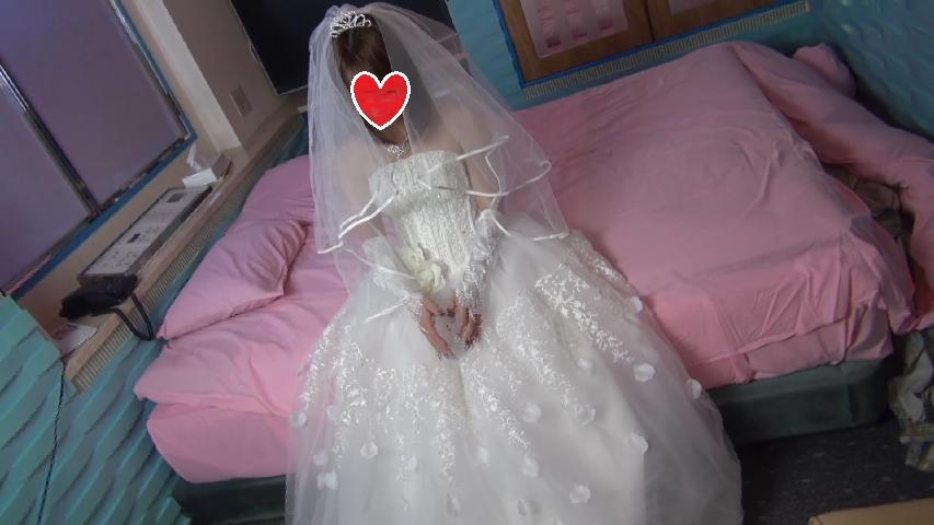 【最新作】さようなら、り○ぽ○涙 ウェイディングドレスでLAST中出し♪【個人撮影】