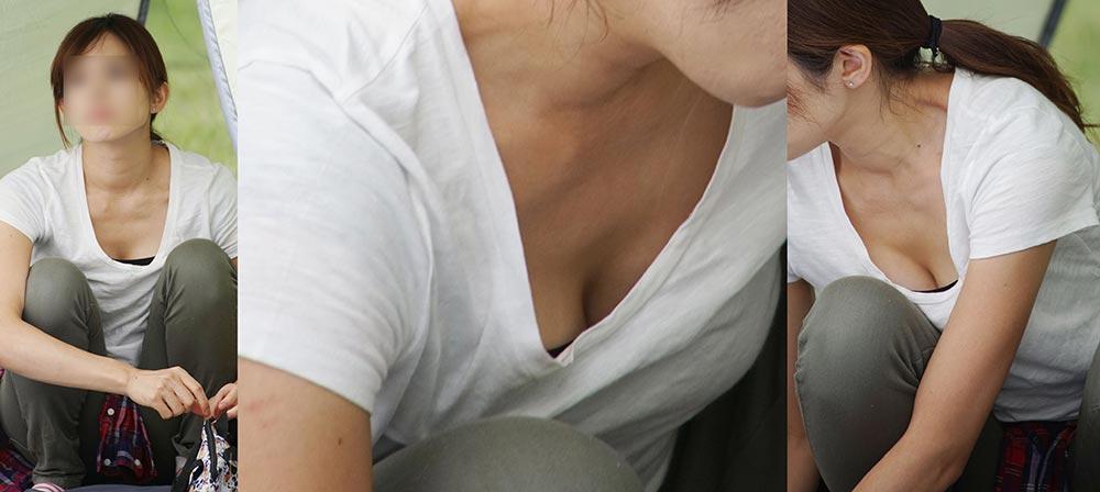 1418073147.31 ママさんはTシャツの胸元から柔らかそうな美乳の谷間をチラチラと覗かせてくれる!!