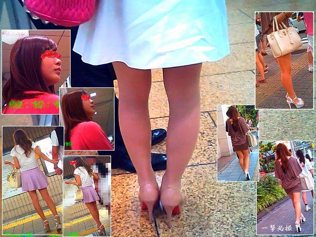 街で見かける可愛い雰囲気のギャルっぽいおねーさんの美脚を観察する