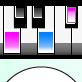 自動演奏MIDIプレーヤー キーボード表示つき