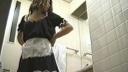 メイドカフェのトイレを盗撮!